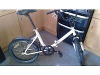 """folding bike 20""""alloy wheel single speed"""