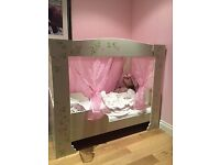 Four Poster Princess Girl Bed 1-10 Years with Mattress