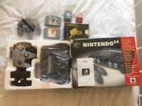 Fully boxed and complete N64 Nintendo with Zelda and more