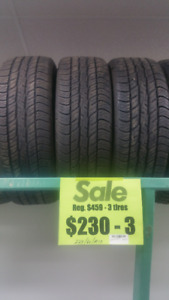 New Brand Name tires.