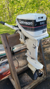 9.9 Johnson Outboard and Gas Tank for Sale
