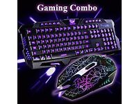 new gamers colour changing keyboard and mouse