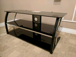 Glass TV shelf/stand