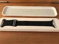 Apple Watch Leather Loop Strap - BLACK