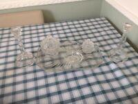 Glass dressing table set
