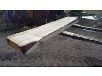 Green Oak Board Slab for Mantlepiece, Tabletop, etc