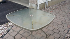 Glass Patio Table  38 inch