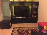 Ikea TV unit in dark