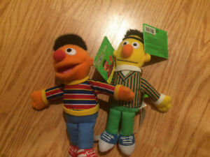 BNIB Bert and Ernie Sesame Street plush