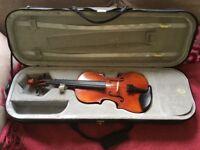3/4 size violin.