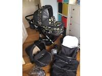Beautiful Mikado Travel System Pram Stroller Car Seat Excellent condition