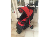 ONE ONLY! HAUCK CITI NEO COMFORTFOLD CHILLI RED LIGHTWEIGHT BUGGY PRAM PUSHCHAIR FROM BIRTH - THREE