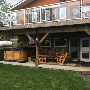 New house for sale on whitefish lake with heated garage and loft