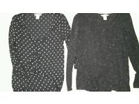 Two H&M Maternity Tops Size Small