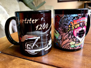Two Licensed Harley Davidson Coffee Mugs