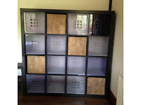 Large & Small storage units units, squares 16 cube, 4 cube storage including boxes