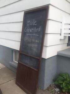 For sale: Vintage door with chalkboard  -$20. OBO