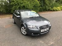 2006 AUDI A3 2.0 TDI SPORT FIVE DOORS GREY MOT ONE YEAR GREAT CAR MUST SEE £2995 OLDMELDRUM