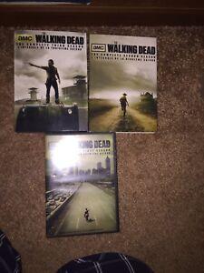 S1-3 walking dead DVDs