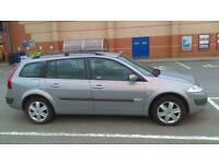Renault Megane estate 1.6 petrol 2005 year mot SEPTEMBER