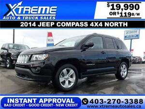 2014 Jeep Compass North 4x4 $119 bi-weekly APPLY NOW DRIVE NOW