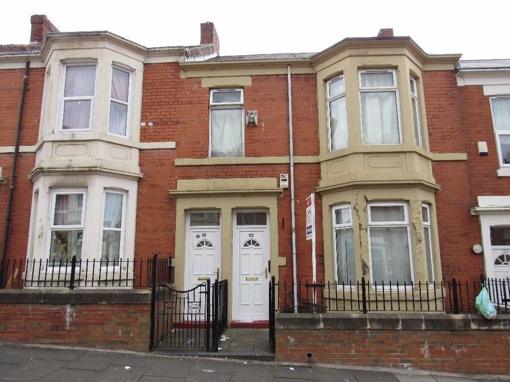 2 bed lower flat, Ellesmere road, NE4 8TR