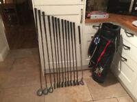 Golf clubs-Ladies full matching set Driver, 3 Wood, 5 Wood, Irons (3-SW) Putter, Bag, balls & Tees