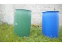 205litres. Plastic Barrels