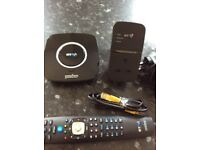 BT You view box, remote & broad band extender