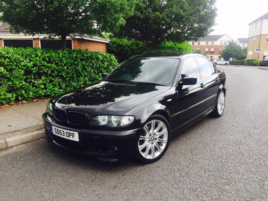 bmw 320d msport e46 manual black saloon diesel in. Black Bedroom Furniture Sets. Home Design Ideas