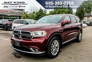 2016 Dodge Durango LIMITED AWD, PWR SUNROOF, BLIND-SPOT, BACK-UP