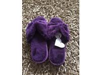BNWT - Avon Purple Slippers