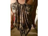 Snake Print Silky Dress Size 12