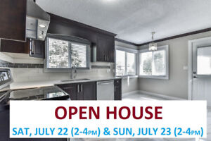 Open house Sat (July 22nd) from 2-4pm and Sun (July 23rd) from 2