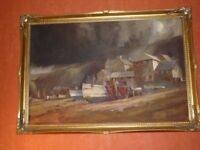 oil painting complete with frame