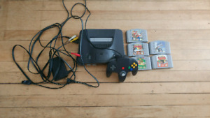 Nintendo 64 Comes with controllers and games!