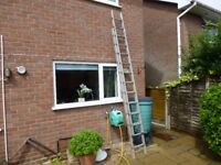 Two section Extending Aluminium Ladder