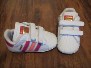 baby Adidas shoes & head band set
