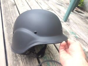 Black SWAT helmet for airsoft paintball cosplay