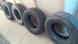 Four Uniroyal Laredo summer tires.