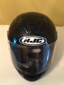 Black Motorcycle Helmet - Size Large