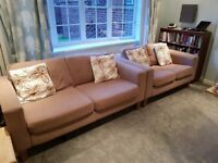 3 Seater Sofa and 2 Seater Sofa Suite in Good Condition