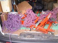 CLIMBING ROPE IN 3 LOTS 30-50 METERS EACH WILL SELL SEPERATLY