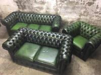 Vintage Chesterfield Three Piece suite