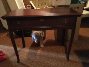 SOLID Wood table with drawer
