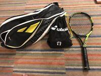 Babolat Pure Aero Tennis Racket, Grip size 4:4 1/2 *PLUS FREE BABOLAT RACQUET CASE AND BAG OF BALLS*