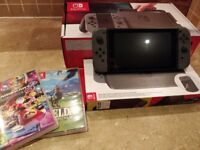 Nintendo Switch Grey Console + Games