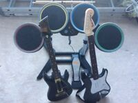 PS4 rock band 4, guitar hero bundle
