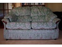 Two Seater Green Sofa