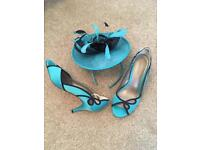 Jacques Vert fascinator/shoes, wedding, was £180 new- still in Debenhams!